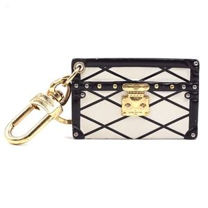 Malle Rare Calf Leather Quilted Print Key Charm
